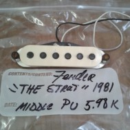 1981 Fender Stratocaster pickup/ middle